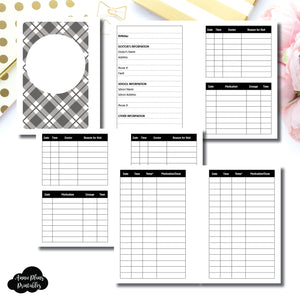 Pocket Plus Rings Size | KIDS Information Printable Insert ©