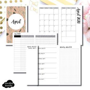 Personal TN Size | APR 2020 | Month/Weekly/Daily GRID (Monday Start) Printable Insert ©