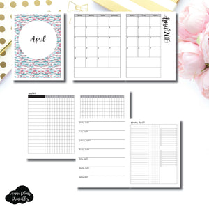 Classic HP Size | APR 2019 | Month/Weekly/Daily 3 Column UNTIMED (Monday Start) Printable Insert ©