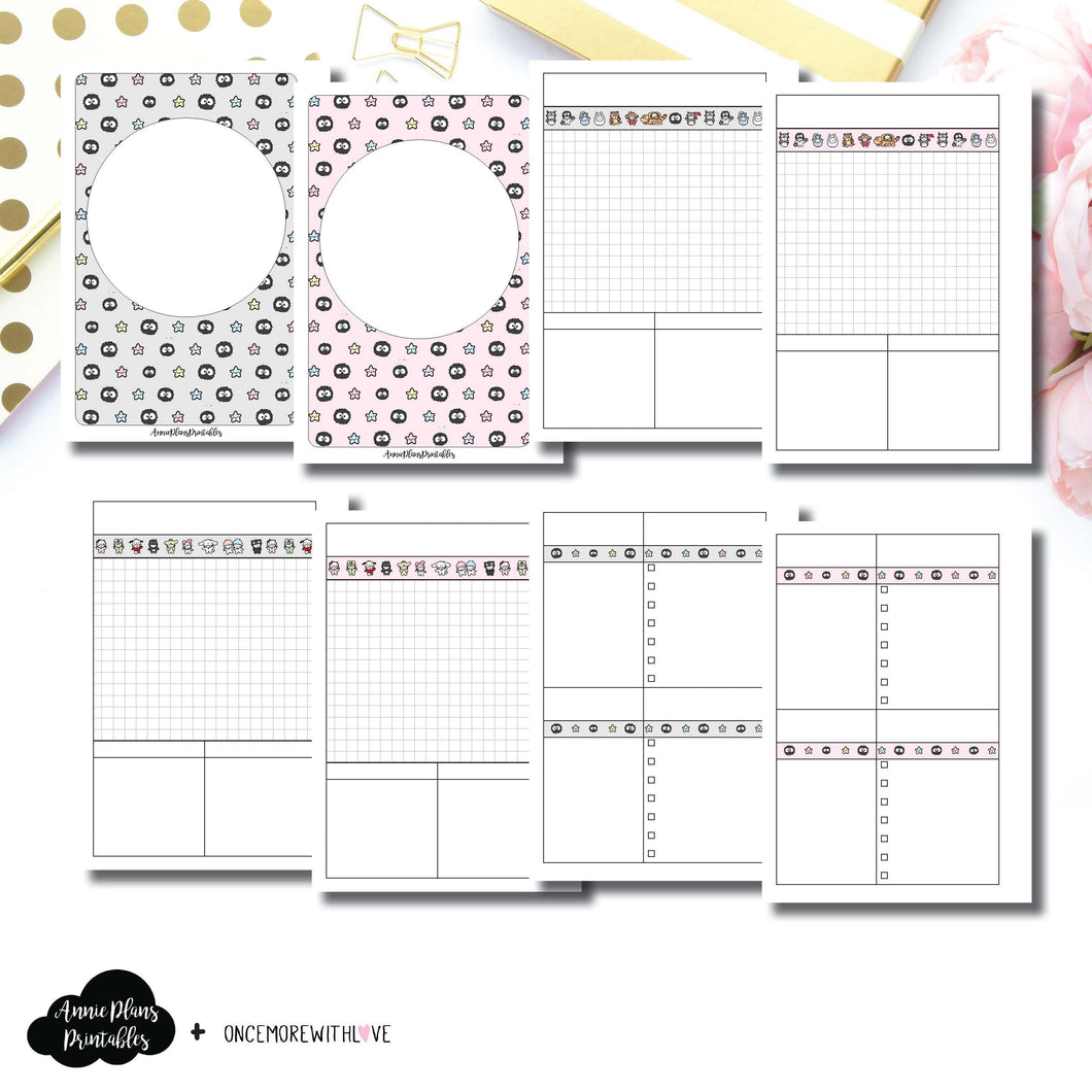 A6 Rings Size | OnceMoreWithLove SanMunchkin Collaboration Printable Insert ©