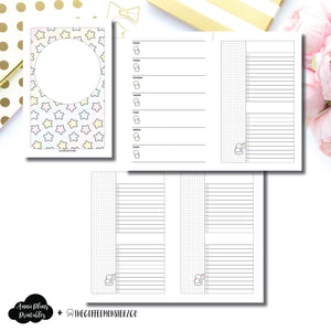 Half Letter Rings Size | TheCoffeeMonsterzCo Collaboration Weekly/Daily Printable Insert ©
