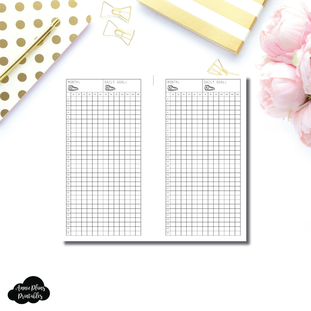 FREEBIE Personal Rings Size | Monthly Step Tracker Printable