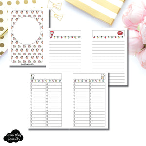 Pocket Plus Rings Size | TheCoffeeMonsterzCo Collaboration Holiday Notes & Lists Printable Insert ©