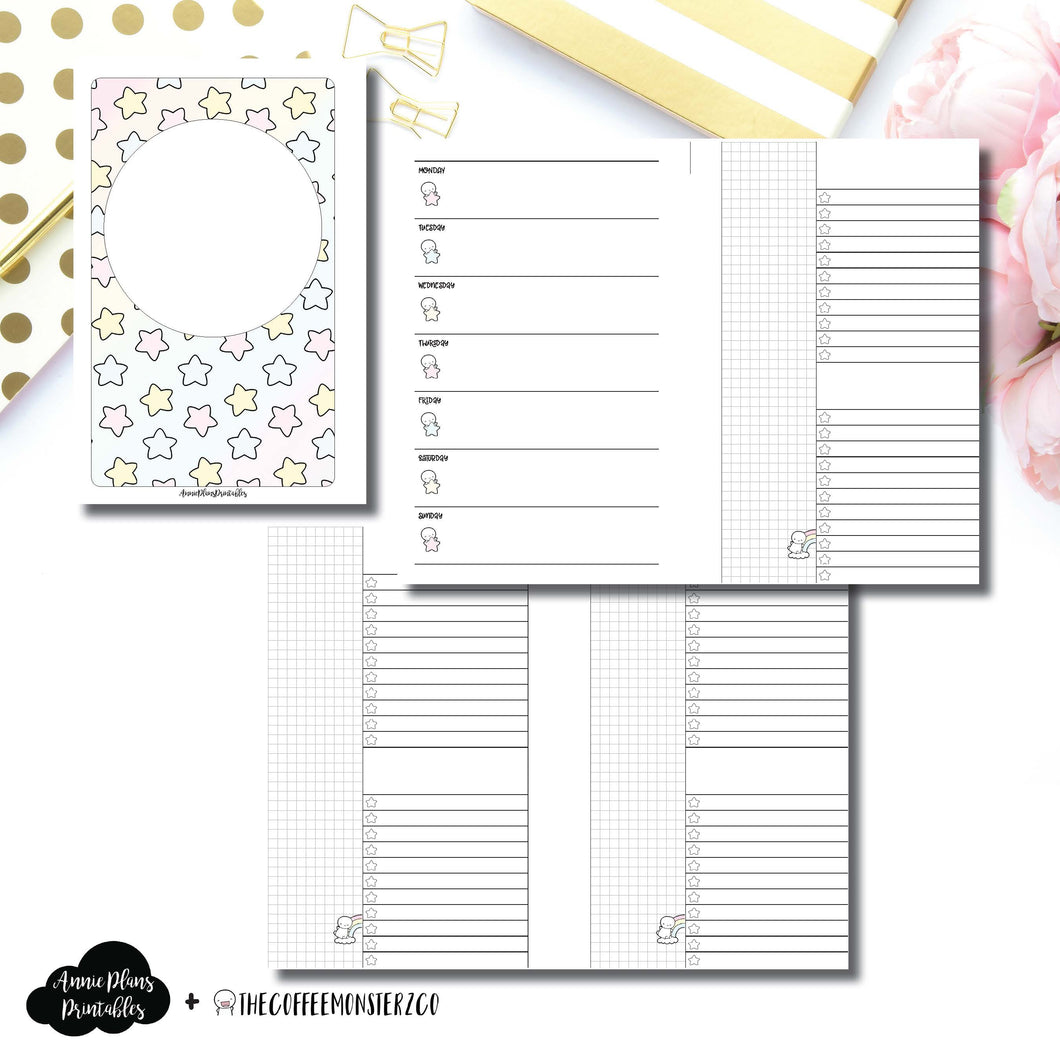 Mini HP Size | TheCoffeeMonsterzCo Collaboration Weekly/Daily Printable Insert ©