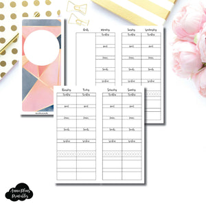 H Weeks Size | Wellness Tracker Printable Insert ©