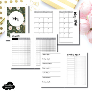 Pocket Rings Size | MAY 2020 | Month/Weekly/Daily UNTIMED (Monday Start) Printable Insert ©