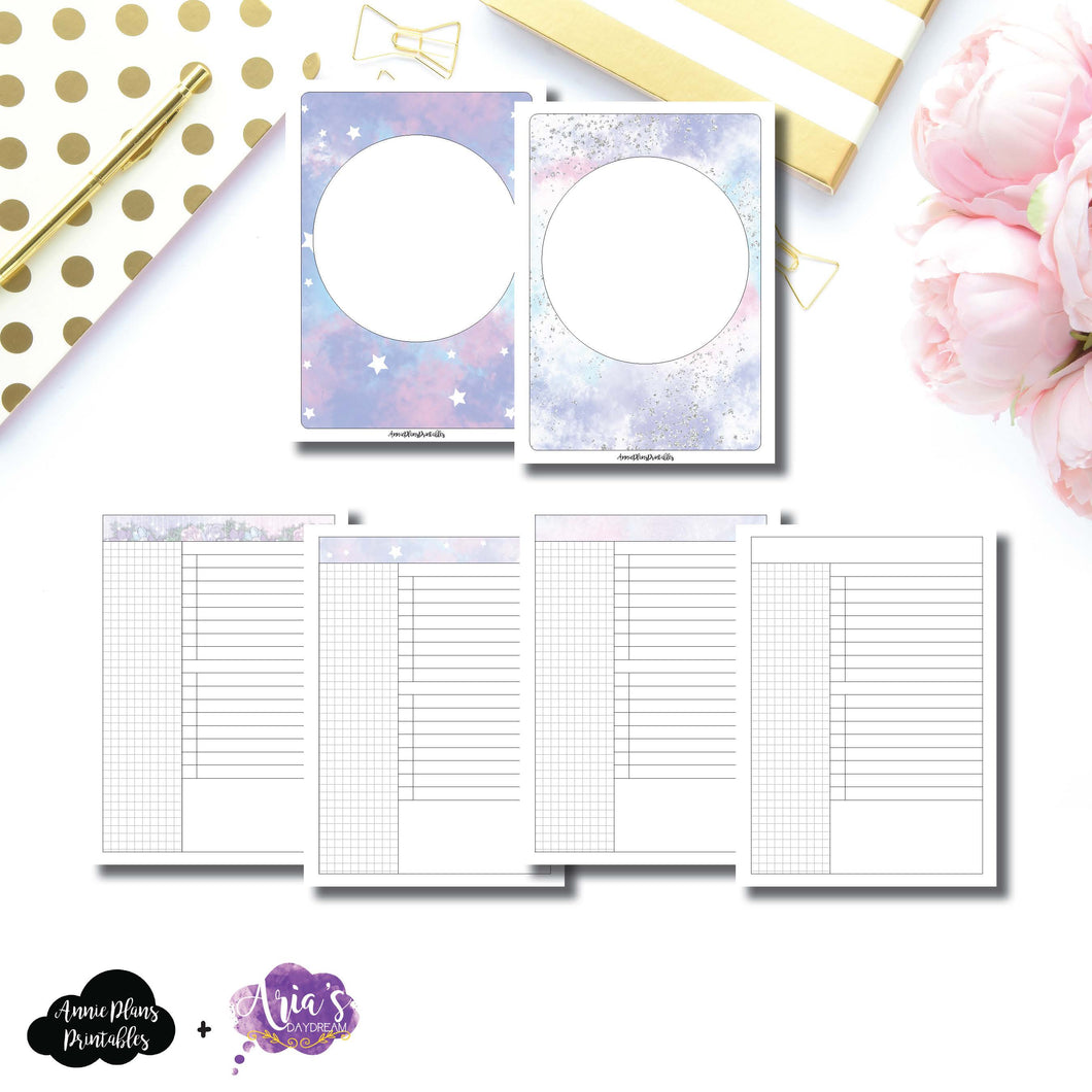 B6 TN Size | Aria's Daydream Anniversary Collaboration Daily Printable Insert ©