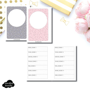Pocket Plus Rings Size | DEC 2019 - DEC 2020 Week on 1 Page Layout (Monday Start) Printable Insert ©
