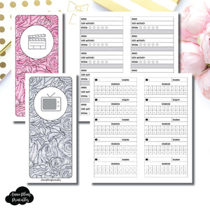 H Weeks Size | TV & Movie Tracker Bundle Printable Insert ©