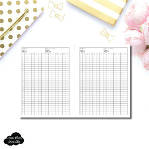 FREEBIE B6 Rings Size | Monthly Step Tracker Printable
