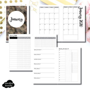 Half Letter Rings Size | JAN 2020 | Month/Weekly/Daily 3 COLUMN TIMED (Monday Start) Printable Insert ©