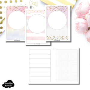 B6 Rings Size | HWeeks Weekly Layout Printable Insert ©