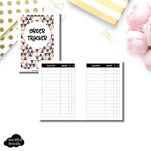 Pocket Plus Rings SIZE | Basic Order Tracker Printable Insert ©