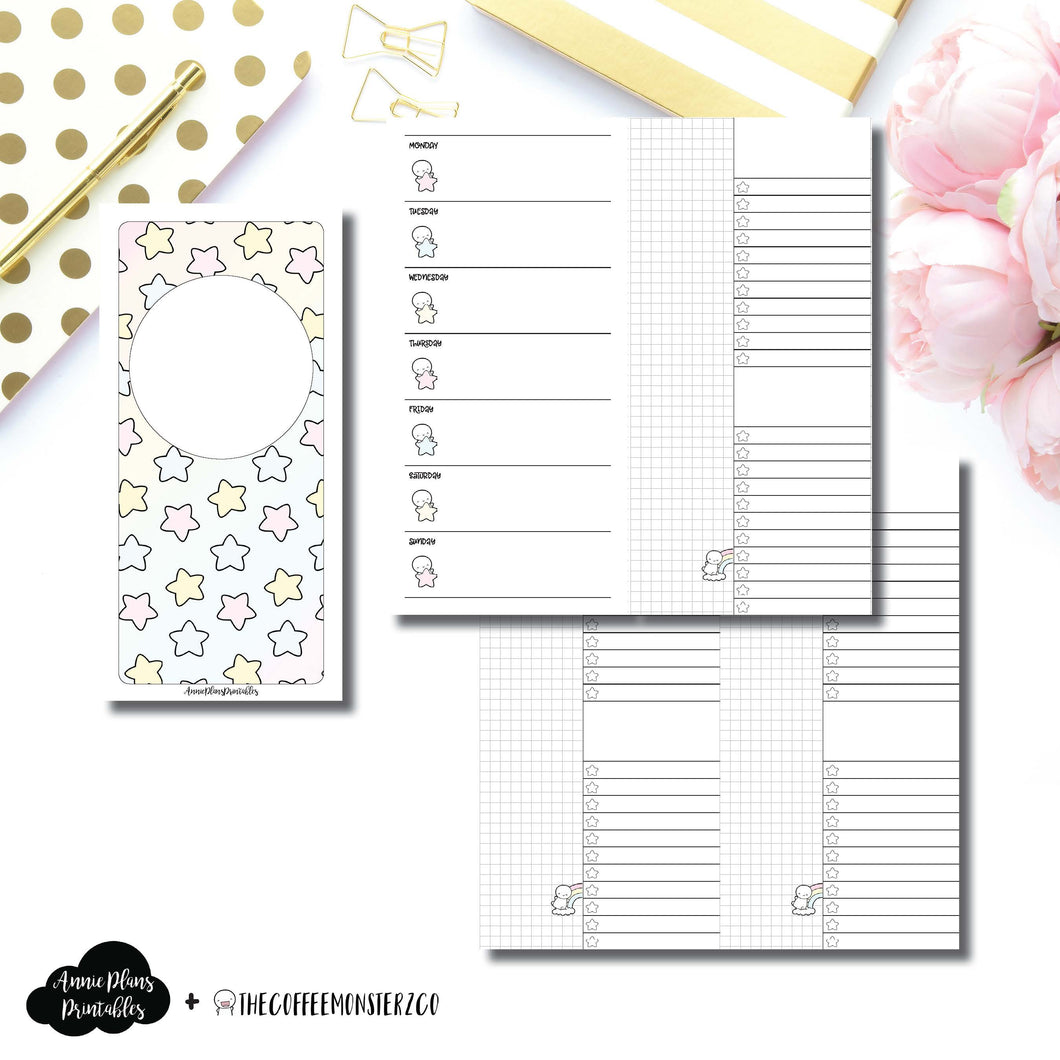 HWeeks Wide Size | TheCoffeeMonsterzCo Collaboration Weekly/Daily Printable Insert ©