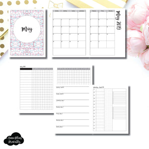 Classic HP Size | MAY 2019 | Month/Weekly/Daily 3 Column TIMED (Monday Start) Printable Insert ©