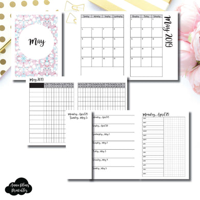 Passport TN Size | MAY 2019 | Month/Weekly/Daily TIMED (Monday Start) Printable Insert ©