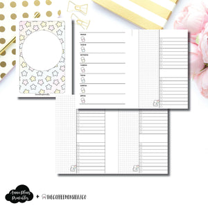 A6 Rings Size | TheCoffeeMonsterzCo Collaboration Weekly/Daily Printable Insert ©