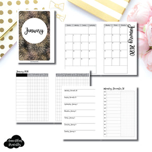 A6 Rings Size | JAN 2020 | Month/Weekly/Daily TIMED (Monday Start) Printable Insert ©