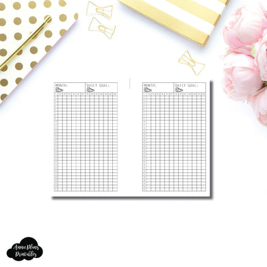 FREEBIE Pocket Plus Rings Size | Monthly Step Tracker Printable