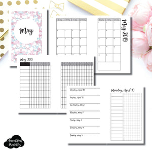 Pocket Rings Size | MAY 2019 | Month/Weekly/Daily UNTIMED (Monday Start) Printable Insert ©