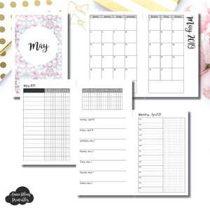 Mini HP Size | MAY 2019 | Month/Weekly/Daily TIMED (Monday Start) Printable Insert ©