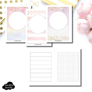 A6 Rings Size | HWeeks Weekly Layout Printable Insert ©