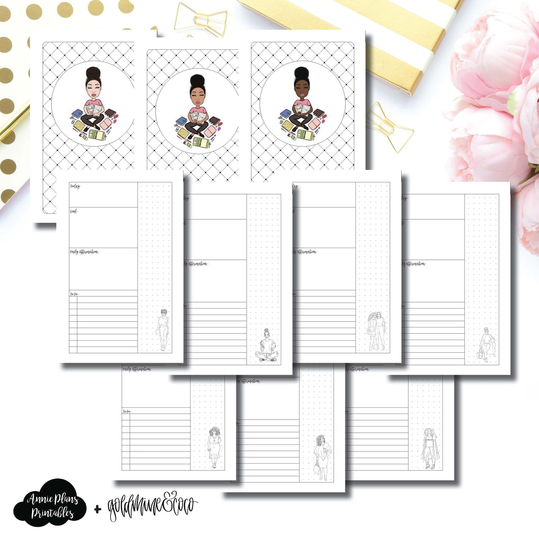 Cahier TN Size | Goldmine & Coco Daily Collaboration Printable Inserts ©