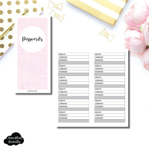 H Weeks SIZED | PASSWORD Printable Insert ©