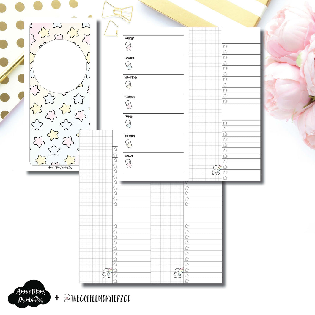 H Weeks Size | TheCoffeeMonsterzCo Collaboration Weekly/Daily Printable Insert ©