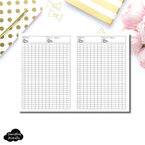 FREEBIE A6 TN Size | Monthly Step Tracker Printable