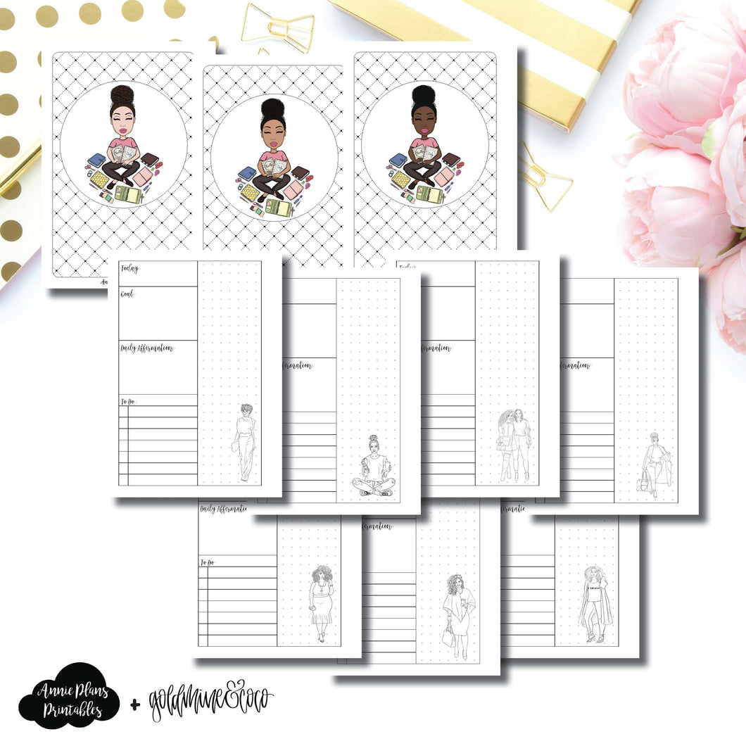 A6 RINGS Size | Goldmine & Coco Daily Collaboration Printable Inserts ©