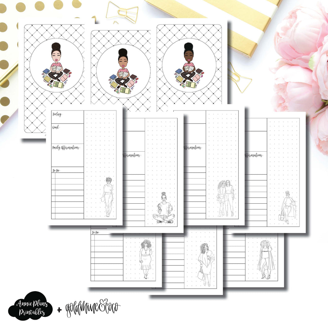 Pocket TN Size | Goldmine & Coco Daily Collaboration Printable Inserts ©