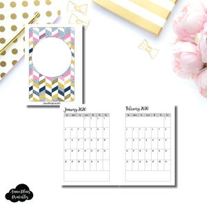 Pocket Plus Rings Size | 24 Month (JAN 2020 - DEC 2021) SINGLE PAGE Monthly Printable Insert ©