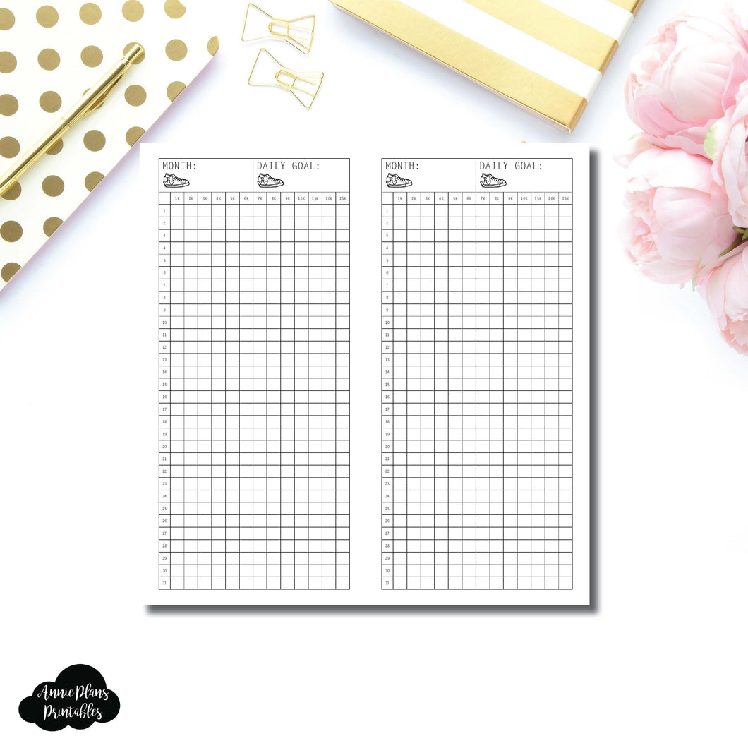 FREEBIE HWeeks Wide Size | Monthly Step Tracker Printable