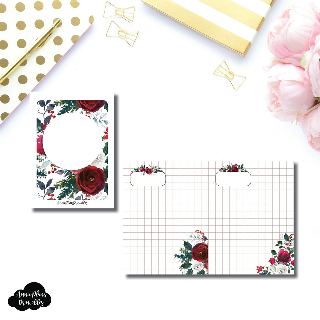 Micro TN Size | Holiday Floral Grid Printable Insert ©