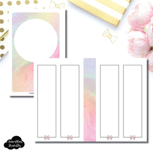 Mini HP Size | SimplyGilded Collaboration Vertical Week on 4 Page Printable Insert ©