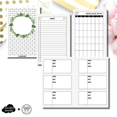 Half Letter Rings Size | Plant Care - Fox & Pip Collaboration Printable Insert ©