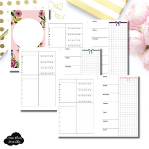 Mini HP Size | Undated Week on 2 Page Layout Printable Insert ©