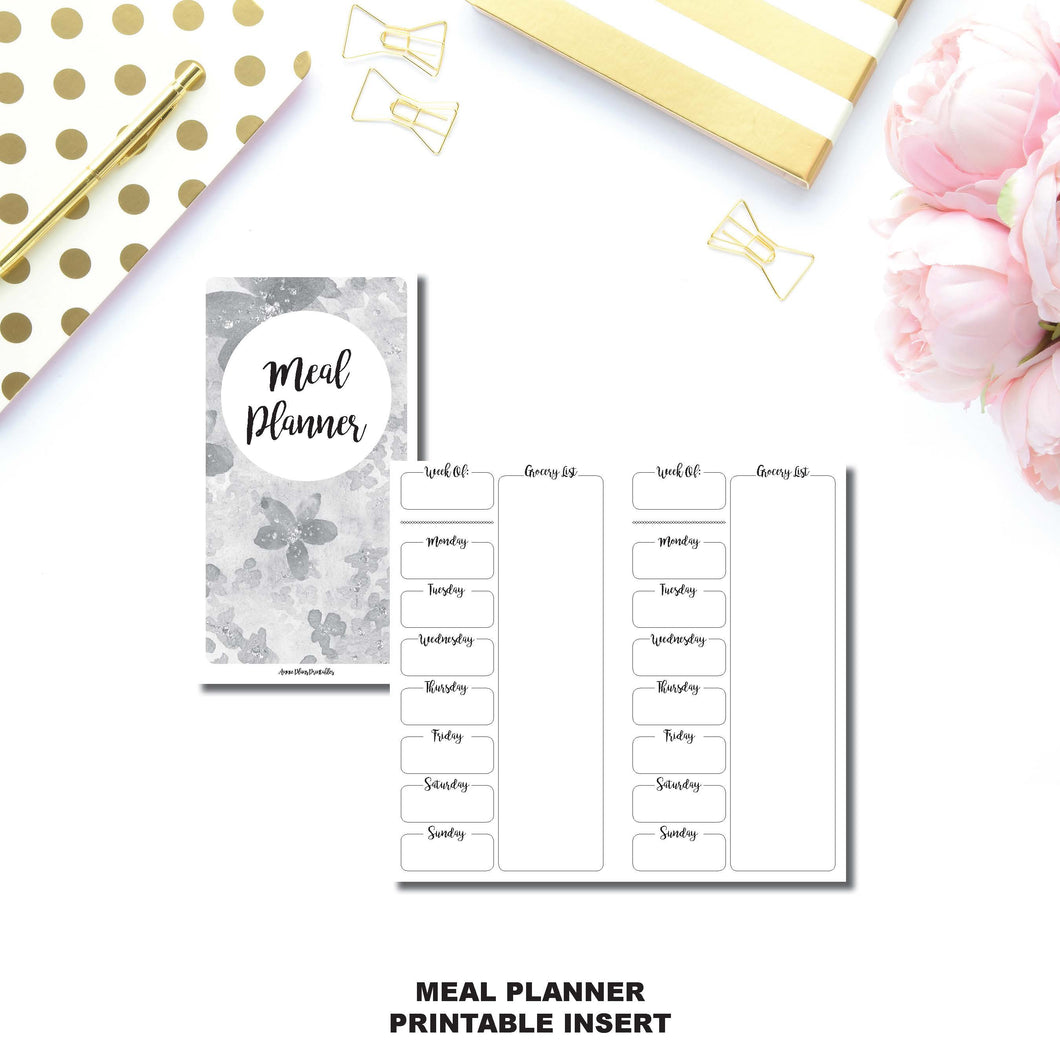 Personal TN Size | Weekly MEAL PLANNER Printable Insert ©