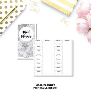 Standard TN Size | Weekly MEAL PLANNER Printable Insert ©