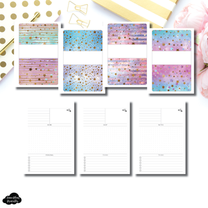 FC Rings Size | Starry Daily Sectioned Layout Printable Insert