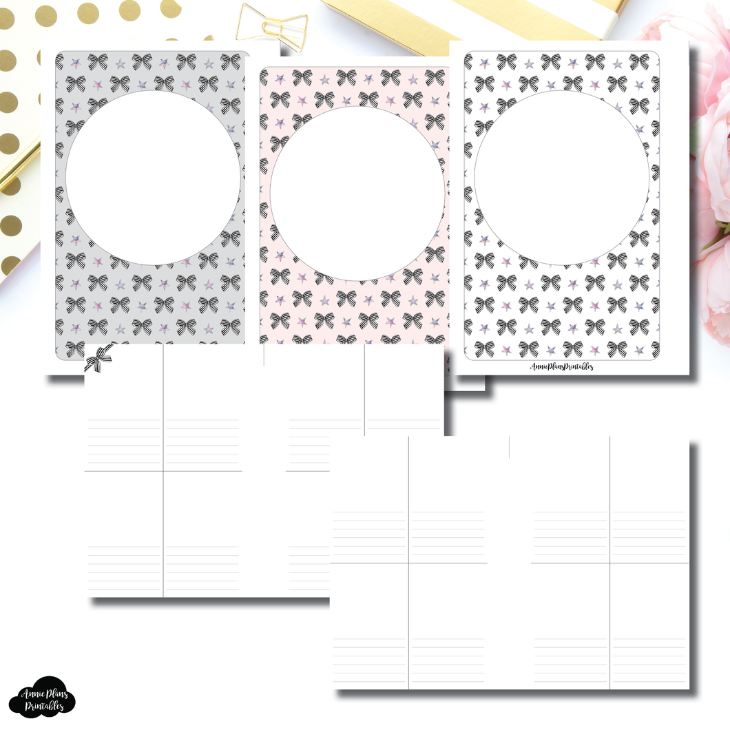 A6 Rings Size | Vertical Notes Printable Insert