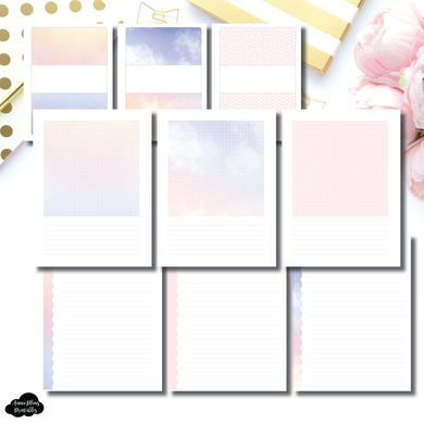 FC Rings Size | Color Swatch + Scallop Notes Printable Insert
