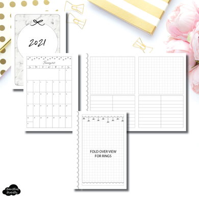 FC Rings Size | 2021 Monthly + Notes & Lists Fold Over Printable Insert ©