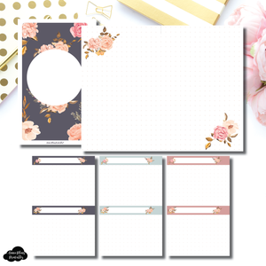 FC Rings SIZE | Two Lil Bees Rose Gold Floral Dot Grid Printable Insert ©