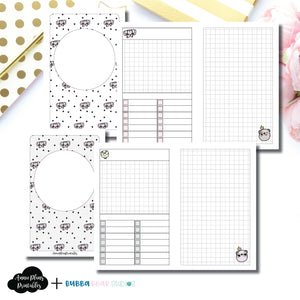 POCKET TN Size | Undated Day on 2 Page or Project Bubba Bear Studios Collaboration Printable Insert