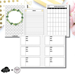 Personal Wide Rings Size | Plant Care - Fox & Pip Collaboration Printable Insert ©