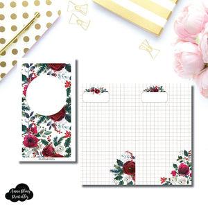 Personal TN Size | Holiday Floral Grid Printable Insert ©