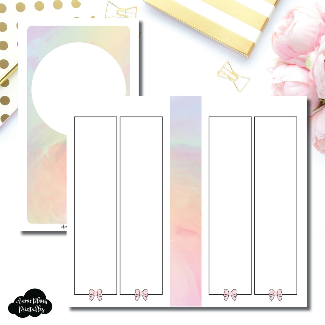 Personal TN Size | SimplyGilded Collaboration Vertical Week on 4 Page Printable Insert ©