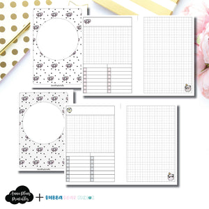 PERSONAL WIDE RINGS Size | Undated Day on 2 Page or Project Bubba Bear Studios Collaboration Printable Insert ©
